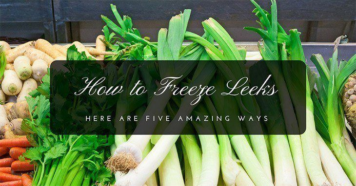 How to Freeze Leeks