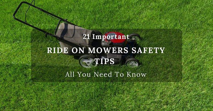 Ride on Mowers Safety Tips