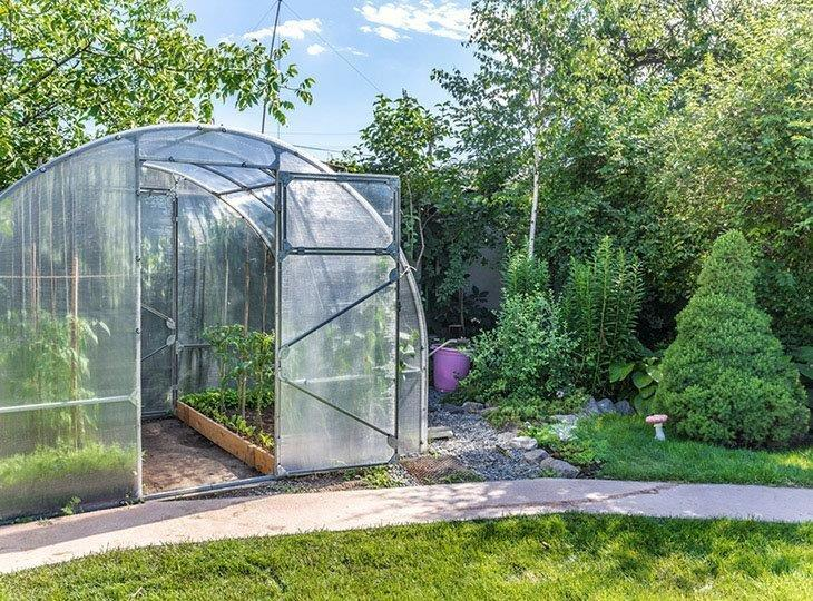 A-greenhouse-in-the-yard-Polycarbonate-Greenhouse-Reviews