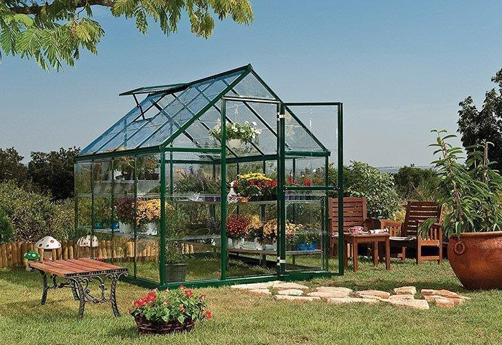 Palram-Nature-Harmony-Greenhouse,-6'-Wide-x-8'-Long-Polycarbonate-Greenhouse-Reviews