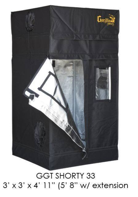 Gorilla Grow Tent Shorty 3x3