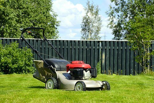 Lawn-mover-on-a-grass