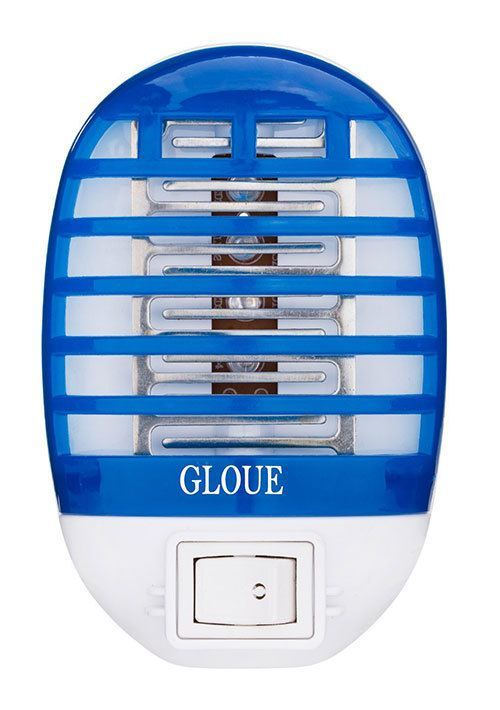 GLOUE Bug Zapper Electronic Insect Killer, Mosquito Killer Night Lamp (Blue)