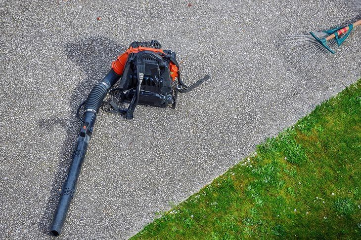 Gas-powered-leaf-blower