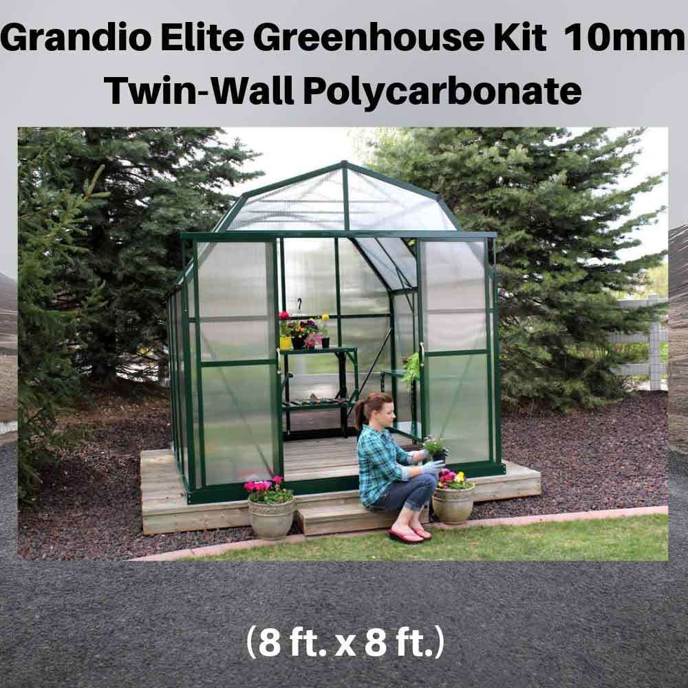 Grandio-Elite-8x8-Greenhouse-Kit-10mm-Twin-Wall-Polycarbonate