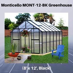 Monticello-MONT-12-BK-Greenhouse,-8'-x-12',-Black