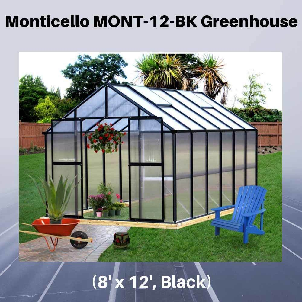 Monticello-MONT-12-BK-Greenhouse,-8'-x-12',-Black