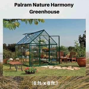 Palram-Nature-Harmony-Greenhouse,-6'-wide-x-8'-long