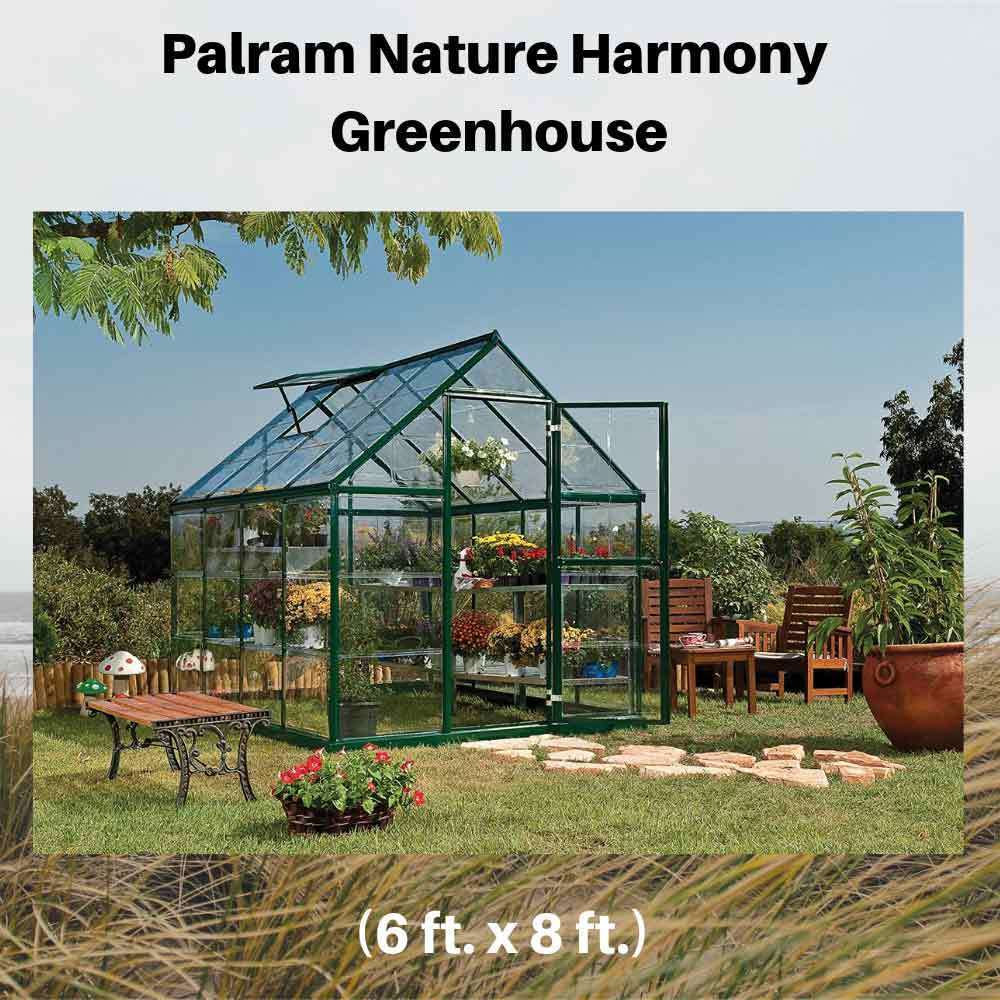 Palram-Nature-Harmony-Greenhouse,-6'-wide-x-8'-long
