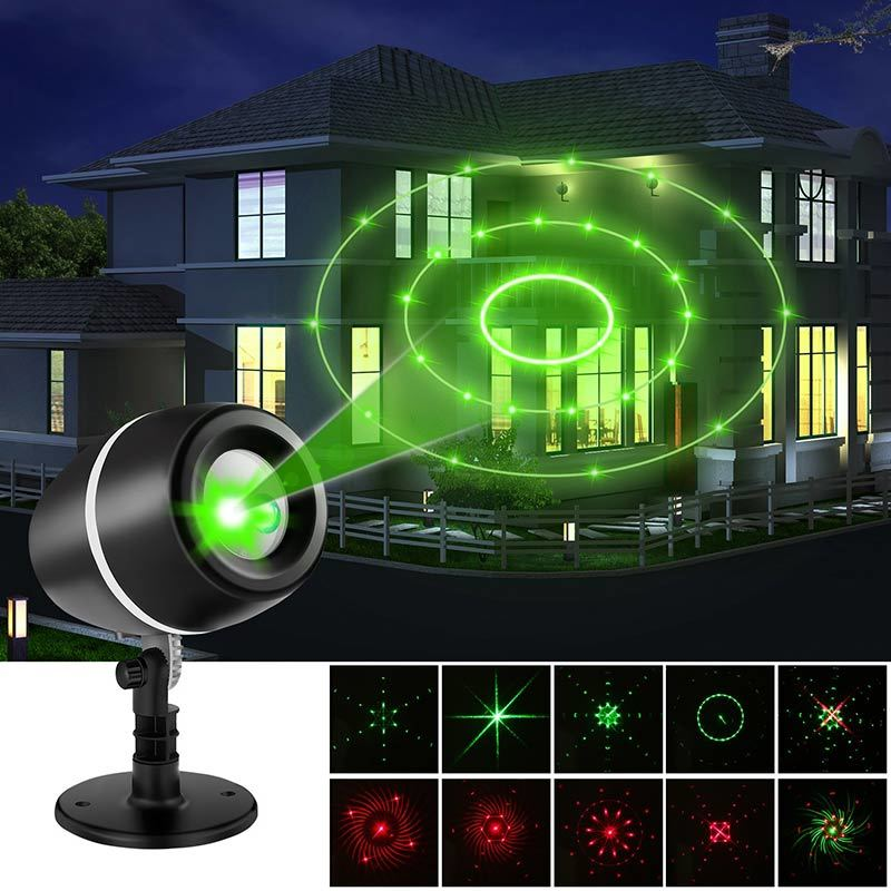 LESHP Projector Lights Laser Lights Moving Galaxy (Red and Green)