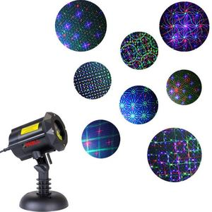 Motion 8 Patterns in 1 LEDMALL RGB Outdoor Laser Christmas Lights