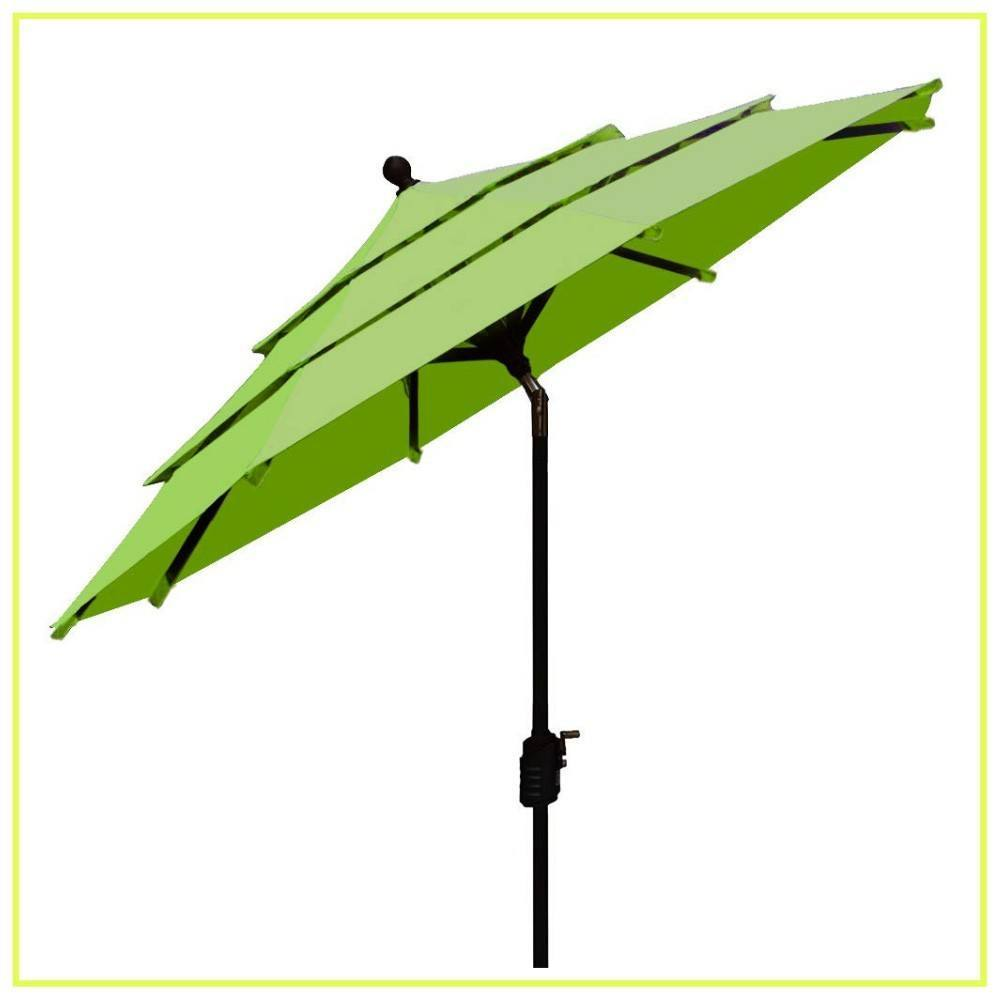 EliteShade Sunbrella 9Ft Market Umbrella Patio Outdoor Table Umbrella with Ventilation (Sunbrella Macaw Green)