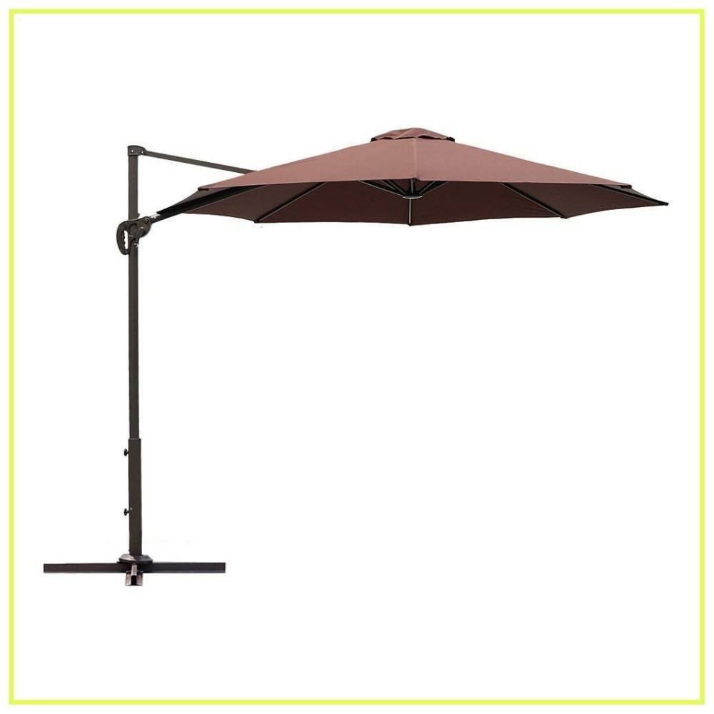 Le Papillon 10 ft Cantilever Umbrella Outdoor Offset Patio Umbrella Easy Open Lift 360 Degree Rotation, Coffee