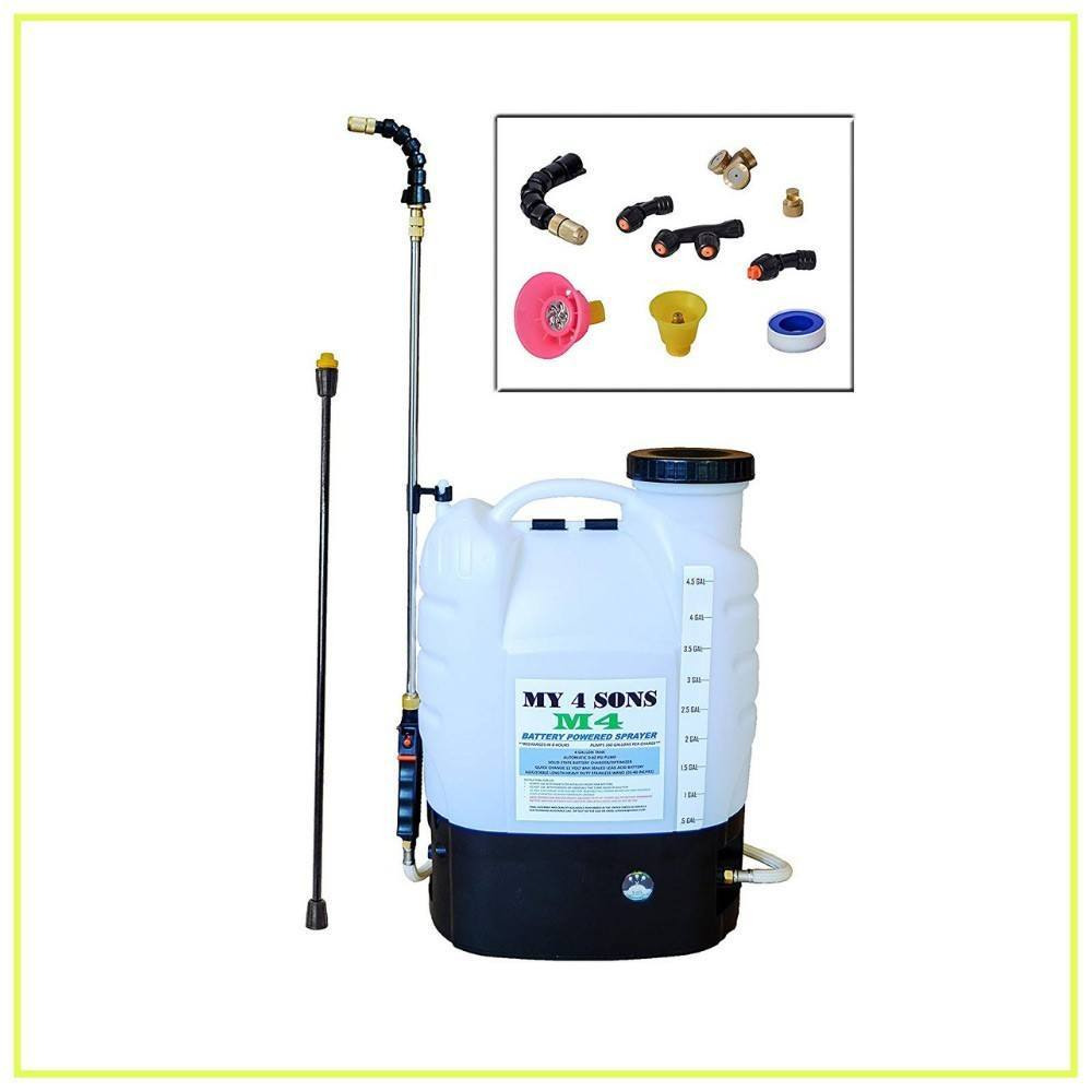 4-Gallon Battery Powered Backpack Sprayer Wide Mouth With STEEL WAND and BRASS NOZZLE, BATTERY INCLUDED