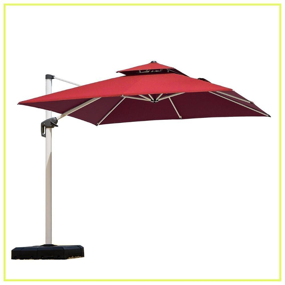 7af4940a76 PURPLE LEAF 9 Feet Double Top Deluxe Square Patio Umbrella Offset ...
