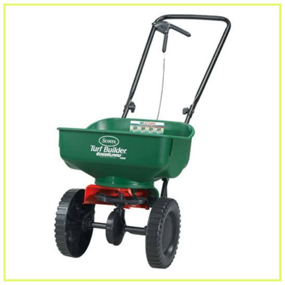 Scotts 76121 Turf Builder EdgeGuard Mini Broadcast Spreader, 1 Pack