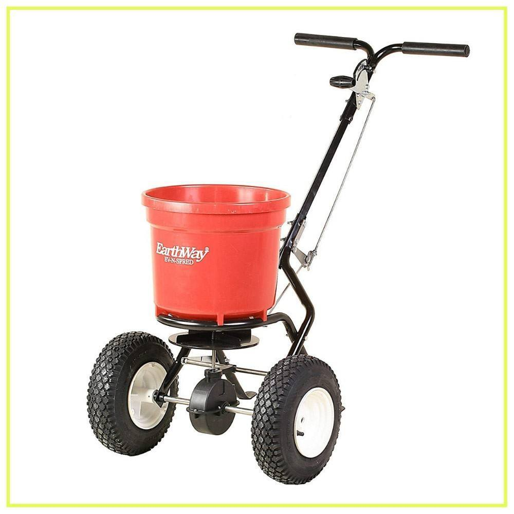 Earthway 2150 Commercial 50-Pound Walk-Behind Broadcast Spreader, Garden Seeder, Salt Spreader - Made in America