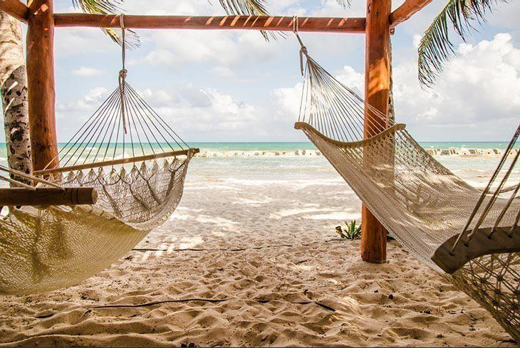 Hammocks at the seashore