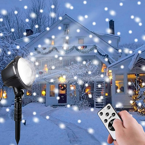 Minetom-Christmas-Snowfall-Projector-Lights,-Rotating-LED-Snow-Projection-with-Remote-Control