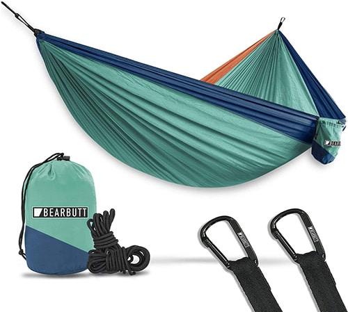 Bear-Butt-Hammocks---Camping-Hammock-for-Outdoors,-Backpacking-&-Camping-Gear---Double-hammock,-Portable-hammock,-2-Person-Hammock-for-Travel,-outdoors---Tree-&-Hiking-Gear---Hammock-that-Holds-500lbs
